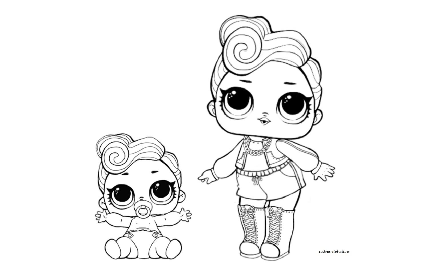 Раскраски для девочек кукол ЛОЛ и их питомцев, куклы Лол ...